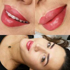 Makijaż permanentny ust - jedna z realizacji