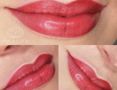 Makijaż permanentny ust wykonany w Centrum Polaszek