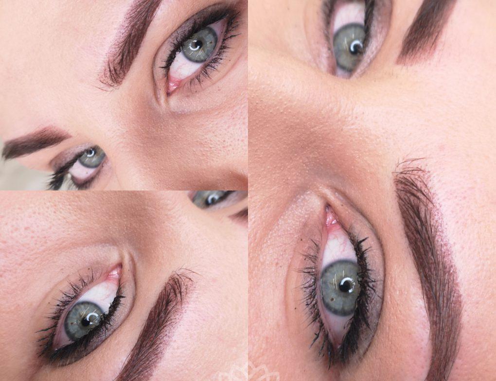 Przykład makijażu permanentnego brwi wykonanego w Centrum Polaszek
