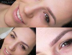 Makijaż permanentny wykonany na brwiach - przykład realizacji