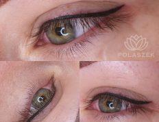 Oczy po makijażu permanentnym