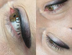 Powieki z makijażem permanentnym